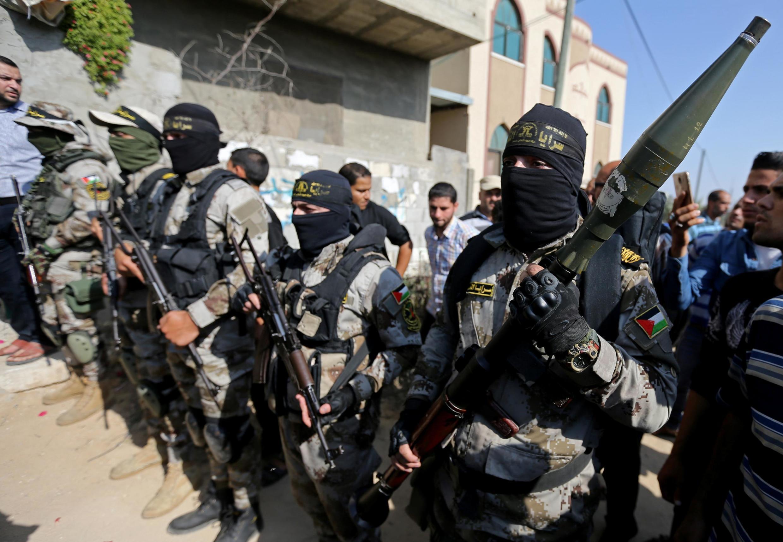 شبه نظامیان جهاد اسلامی در نوار غزه.