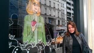 Isabel  Brossolette Branco, criadora do site Paris Rive Droite Rive Gauche