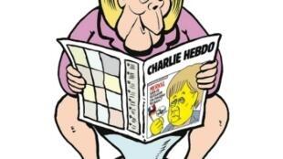 Caricatura de Merkel en la versión alemana de Charlie Hebdo.