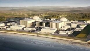 A mock-up of the planned Hinkley Point C reactor to be built by EDF and China's CGN in the UK