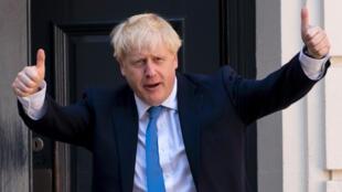 Boris Johnson llega a la sede del Partido Conservador británico el 23 de julio de 2019 en Londres