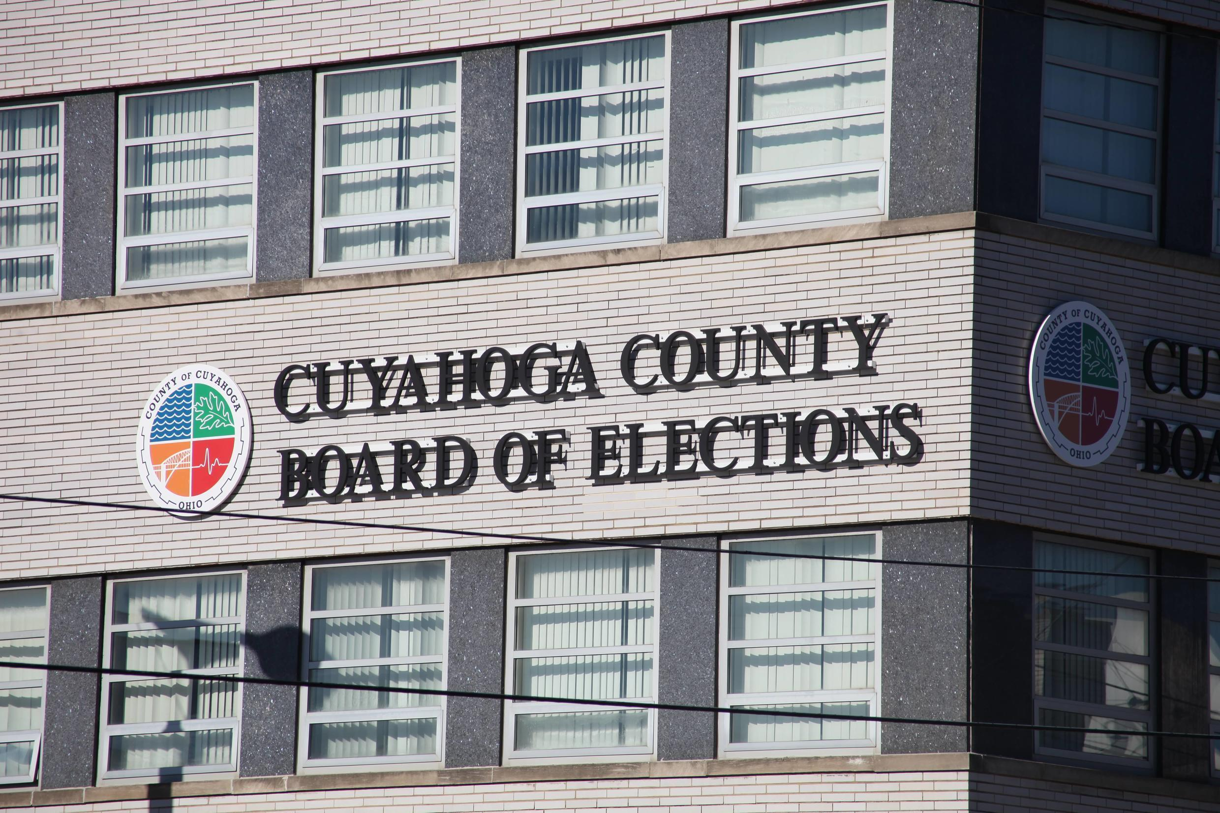 The Board of Elections building in Cuyahoga county