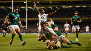 Rugby - Six Nations - Henry Slade scores a try on England's way to victory over Ireland 2 February, 2019
