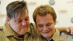 Deux scouts américains, le 23 mai 2013.