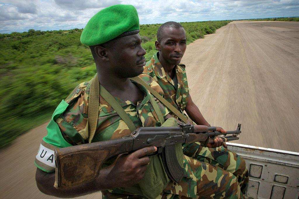 AMISOM advance troops at Baidoa airstrip