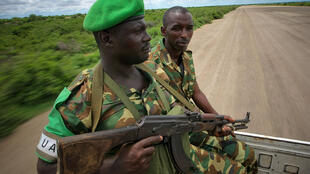 AMISOM advance troops at Baidoa airstrip