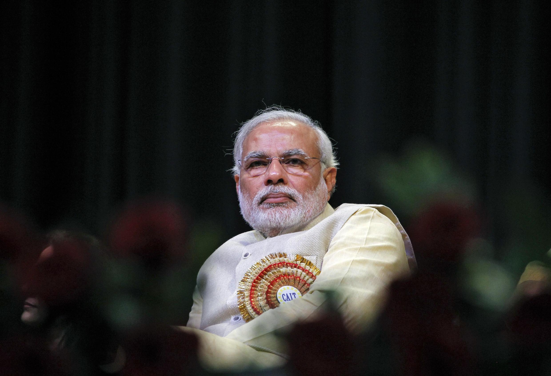 El candidato nacionalista hindú Narendra Modi.