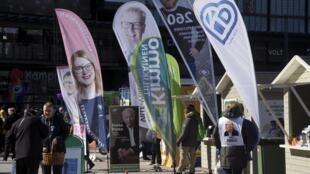 La campaña para las legislativas en Helsinki, el 12 abirl 2019.