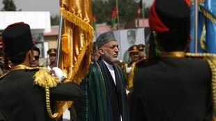 Afghan President Hamid Karzai attends Afghan Independence Day celebrations in Kabul, 19 August, 2013