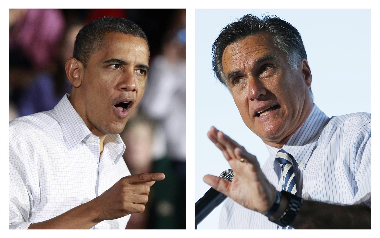 Barack Obama da Mitt Romney, a lokacin da suke yakin neman zabensu