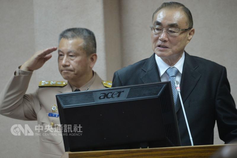台灣新任國防部長馮世寬,2016年5月。