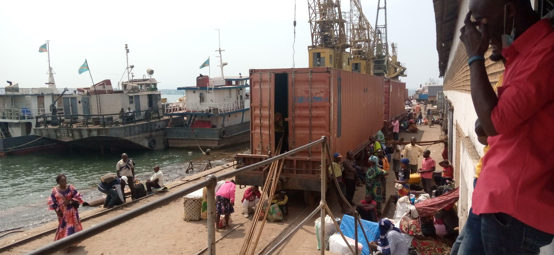 Port de Kalemie à l'Est de la RDC