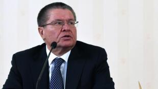 L'ex-ministre russe du Développement économique Alexeï Oulioukaïev, lorsqu'il exerçait ces fonctions à Moscou en janvier 2016.