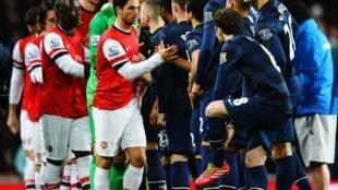 vijana wa timu za Arsenal na Manchester United