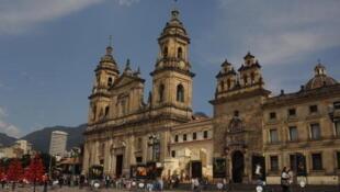 La cathédrale de Bogota au coeur de la vieille ville.