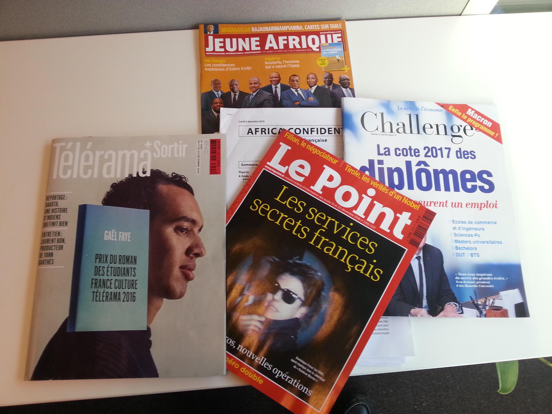 Capas de magazines news franceses de 17 de dezembro de 2016