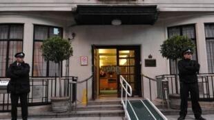L'hôpital King Edward VII à Londres, le 7 décembre 2012 où travaillait Jacintha Saldanha, la nurse décédée.