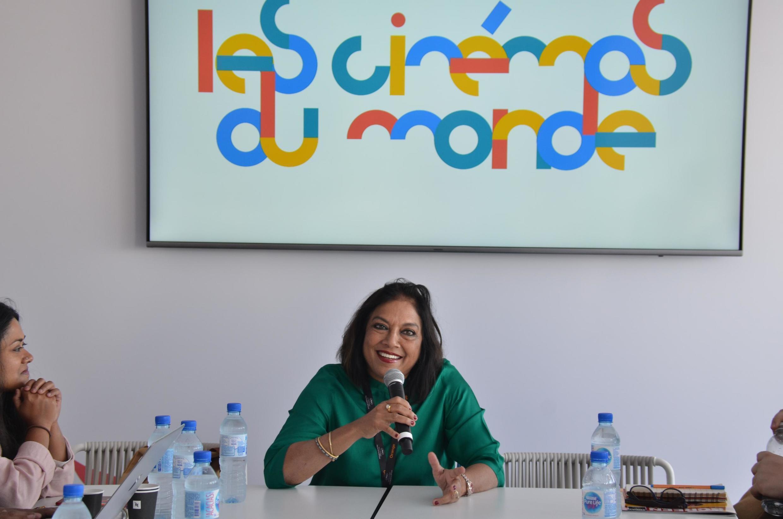 Indian film maker Mira Nair as chief mentor at the Fabrique, Cinémas du Monde Workshop, Cannes 2019