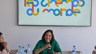 Indian film maker Mira Nair as chief mentor at the Fabrique, Cinémas du Monde Workshop, Cannes 2019