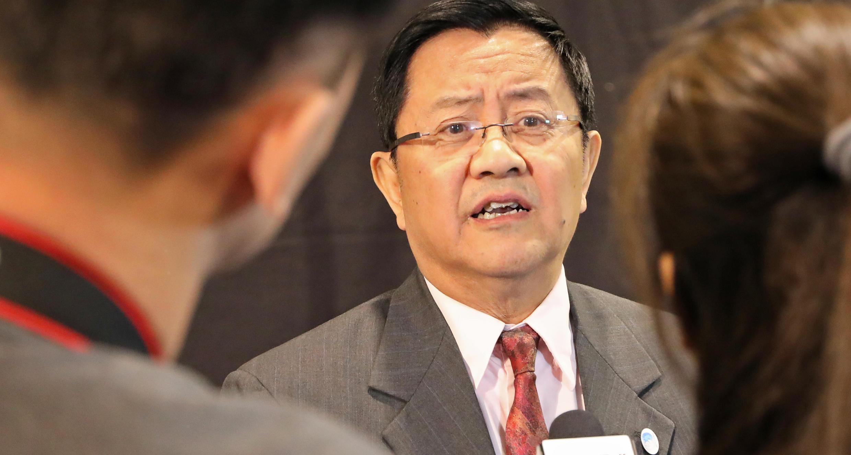 Gao Feng, le représentant spécial chinois pour les affaires arctiques à Rovaniemi, ce lundi 6 mai 2019.