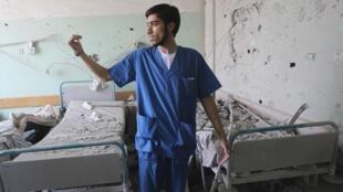 Hospital Al Aqsa en el poblado de Deir el-Balá, Gaza.