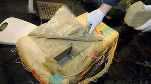French police seized this haul of 560 kilos of cannabis resin being smuggled from Morocco laast year