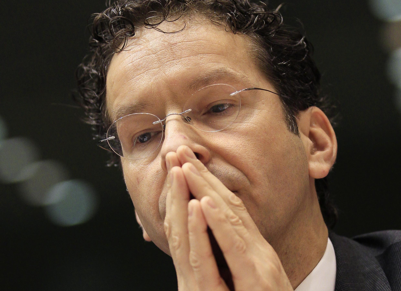 Jeroen Dijsselbloem, président de l'Eurogroupe, lors de son audition devant la Commission des affaires économiques et monétaires du Parlement européen, ce jeudi 21 mars à Bruxelles.