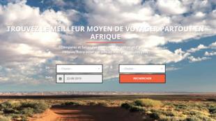 Capture d'écran du site TripAfrique.