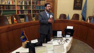 Saïd Mortazavi lors d'une conférence de presse en 2008.