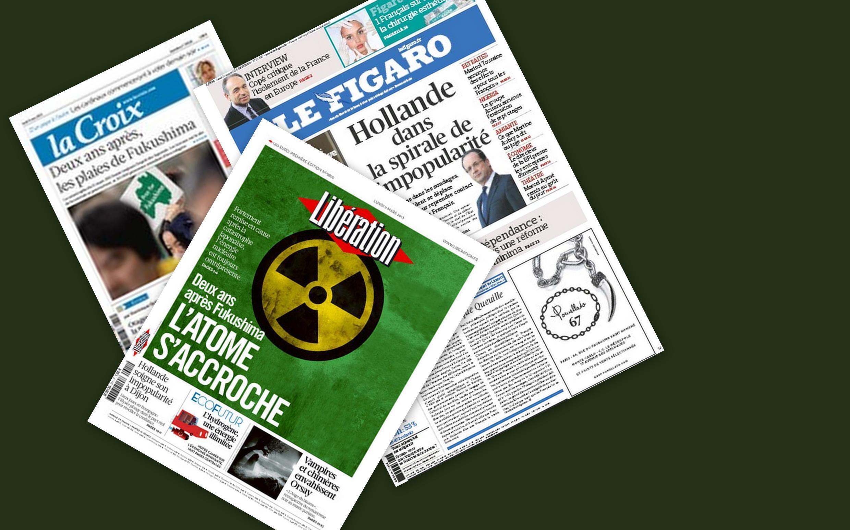 Os jornais franceses desta segunda-feira, 11 de março de 2013, comentam as consequências da catástrofe de Fukushima, que completa dois anos.