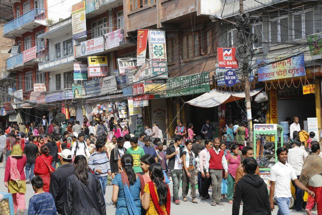 Une rue de Kathmandou, la capitale du Népal (Image d'illustration).