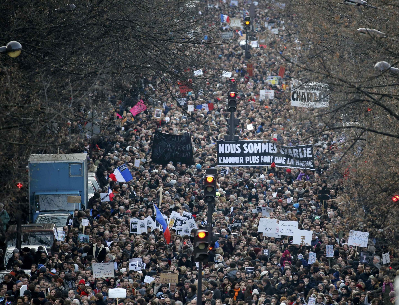 Millones de ciudadanos salieron a las calles de Francia este 11 de enero de 2015