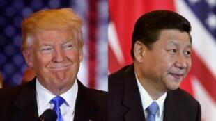 Les présidents des États-Unis Donald Trump (g) et de la Chine Xi Jinping.