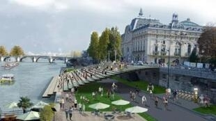 Так будет выглядеть набережная перед музеем Орсе в Париже