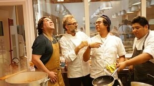 Massimmo Bottura y Gaston Acurio