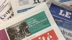 Primeiras páginas dos diários franceses de 29/05/19