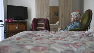 Ảnh minh họa: Trong một nhà dưỡng già ở Besançon, Pháp. Ảnh chụp ngày 20/11/2018.