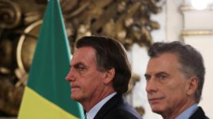 Os presidentes do Brasil, Jair Bolsonaro, e da Argentina, Mauricio Macri, anunciaram em Buenos Aires que acordo do Mercosul com a UE era iminente