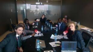 Caroline Lachowsky et ses invités, depuis le Next Einstein Forum à Dakar.