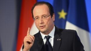 François Hollande, le 20 janvier 2014.
