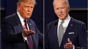 2020美国大选候选人特朗普和拜登(资料图片)
