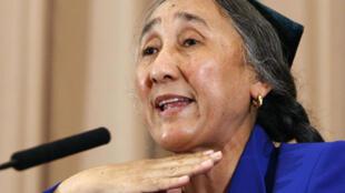 Dissidente ouïghoure en exil Rebiya Kadeer, lors d'un colloque à Tokyo, le 29 juillet 2009.