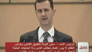 Syrian president Bashir al-Assad