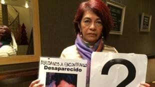 Diana Iris Garcia dont le fils a disparu en 2007, fait partie du collectif Forces unies pour nos disparus à Coahuila. Elle demande l'aide de la communauté internationale pour exiger la fin de l'impunité, de la corruption des autorités.