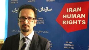 محمود امیری مقدم، سخنگوی سازمان حقوق بشر ایران