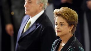 El vicepresidente Michel Temer y la presidenta Dilma Rousseff, el pasado 16 de diciembre de 2015.