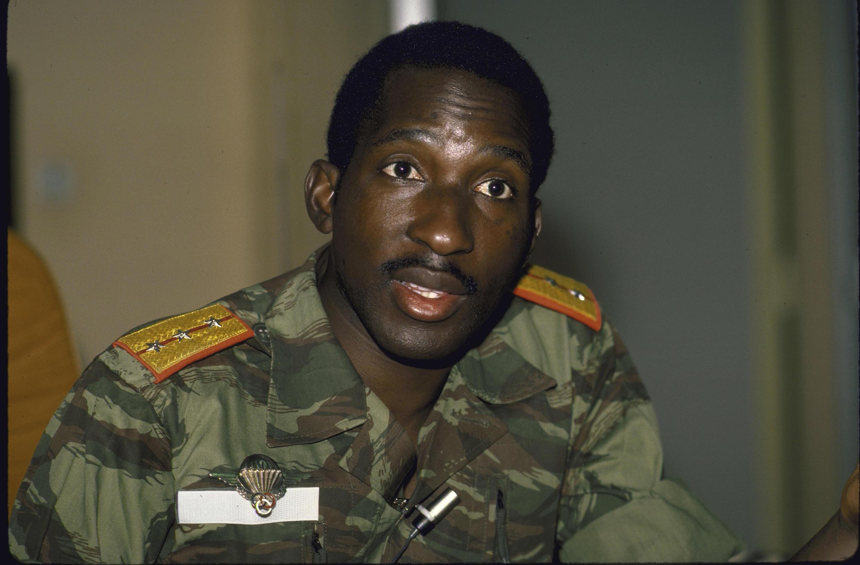 Image d'archive de Thomas Sankara.