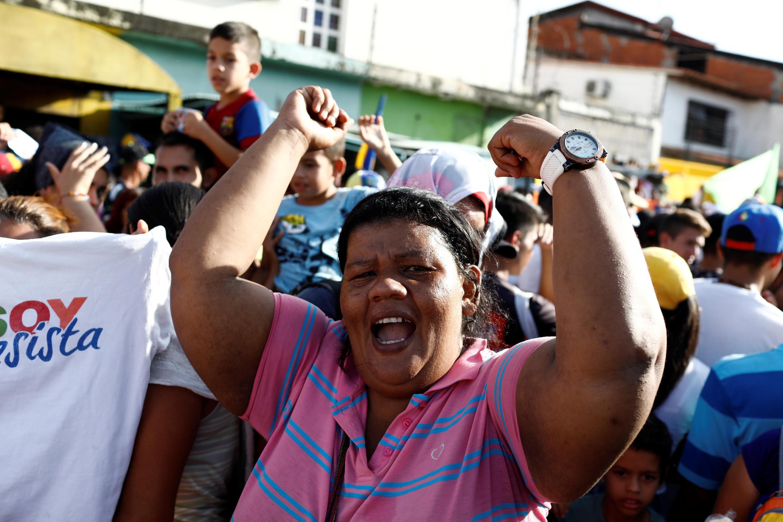 Venezuela: dernier meeting de campagne pour la présidentielle de dimanche pour Henri Falcon, principal candidat d'opposition face à Nicolas Maduro, à Barquisimeto, le 17 mai.