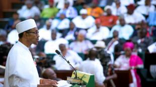 Shugaban Najeriya a zauren Majalisar kasar