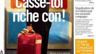Libération's front page Monday 10 September